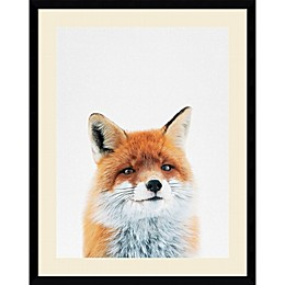 Amanti Art Fox 23-Inch x 29-Inch Framed Wall Art
