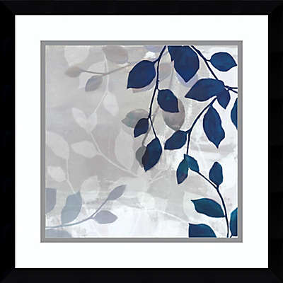 Amanti Leaves in the Mist I 17-Inch Square Framed Wall Art