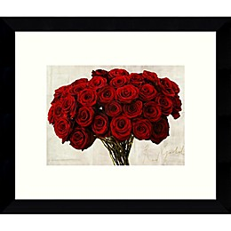 Amanti Red Gold Roses 10.88-Inch x 8.88-Inch Framed Wall Art