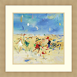 Beach Play Framed Art Print