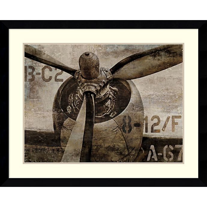 Alternate image 1 for Amanti Art Vintage Propeller 33-Inch x 41-Inch Framed Wall Art