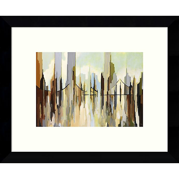 Alternate image 1 for Amanti Art Skyscraper City 9-Inch x 11-Inch Framed Wall Art