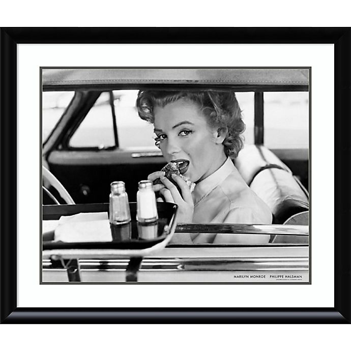Alternate image 1 for Amanti Art Marilyn Monroe Drive-In 1952 33-Inch x 39-Inch Framed Wall Art