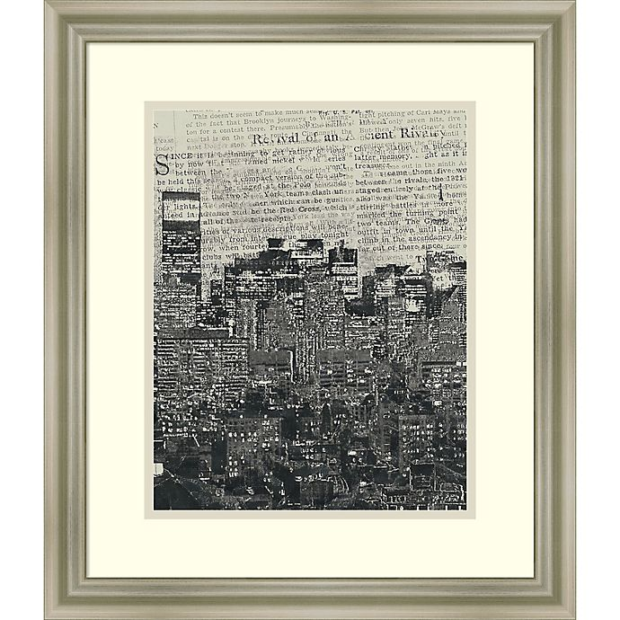 Alternate image 1 for Amanti Art New York News 21-Inch x 18-Inch Framed Wall Art