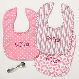Pretty In Pink Bibs (Set of 3)