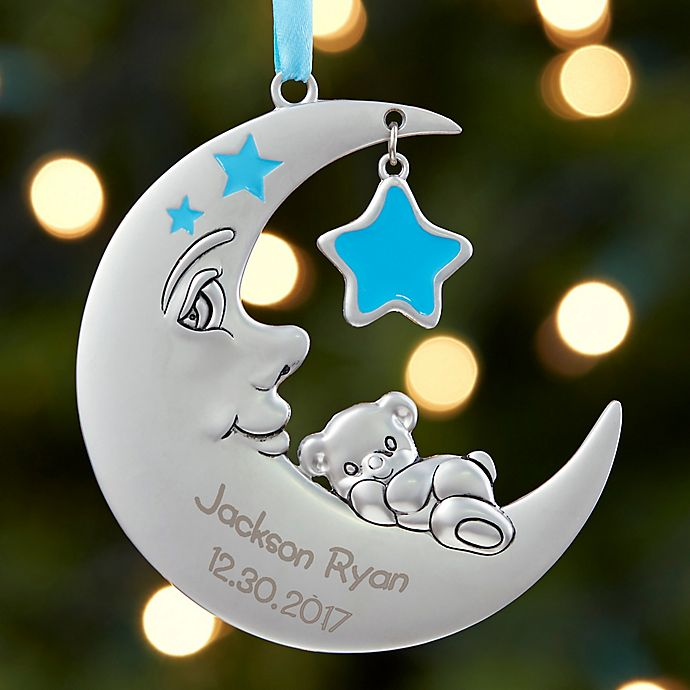 babys 1st christmas moon baby christmas ornament view a larger version of this product image