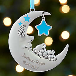 Baby's 1st Christmas Moon Girl Christmas Ornament