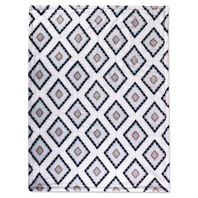 Alternate image 1 for Wendy Bellissimo™ Sawyer Geometric Plush Blanket