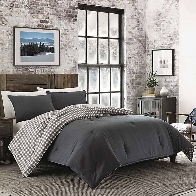 Alternate image 1 for Kingston Reversible King Comforter Set in Charcoal