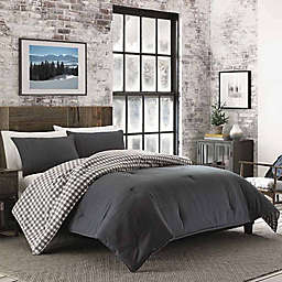 Kingston Reversible King Comforter Set in Charcoal