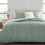 City Scene Ceres 3-Piece Reversible Full/Queen Comforter Set in Green