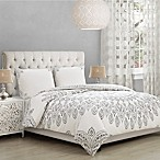 Ahania Full/Queen Comforter Set in Ivory/Black