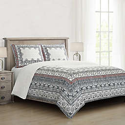 Loressa Full/Queen Comforter Set in Charcoal