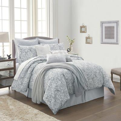 Orchard Street 10 Piece Comforter Set in Grey | Bed Bath & Beyond
