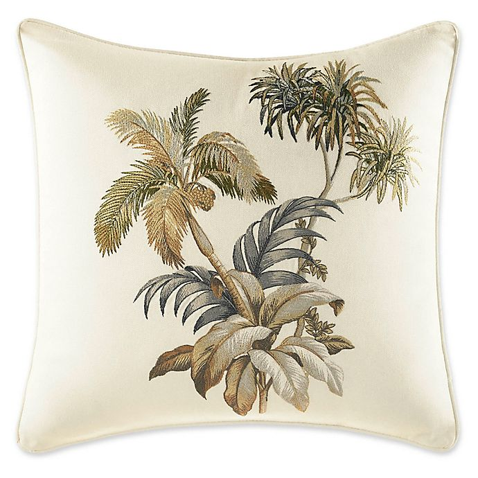 Alternate image 1 for Tommy Bahama® Nador Palm Square Throw Pillow in Ivory
