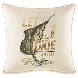 Tommy Bahama® Nador Marlin Square Throw Pillow in Ivory