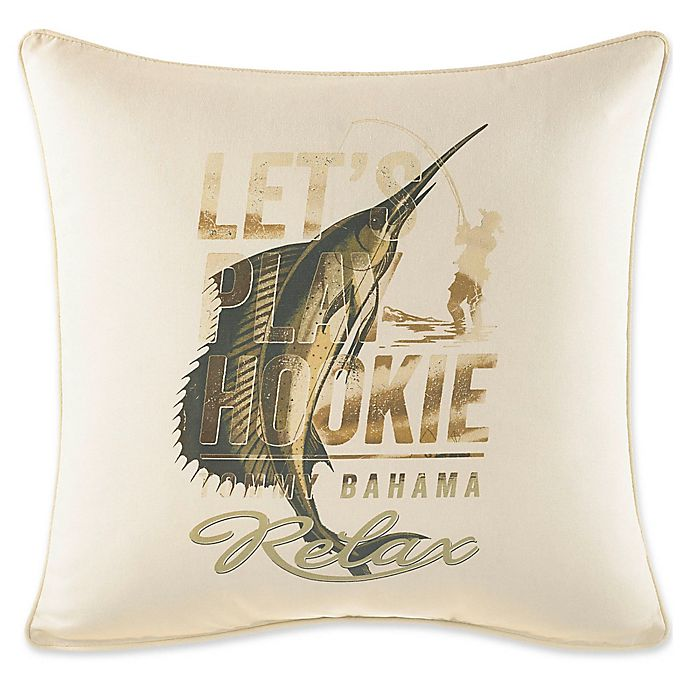 Alternate image 1 for Tommy Bahama® Nador Marlin Square Throw Pillow in Ivory