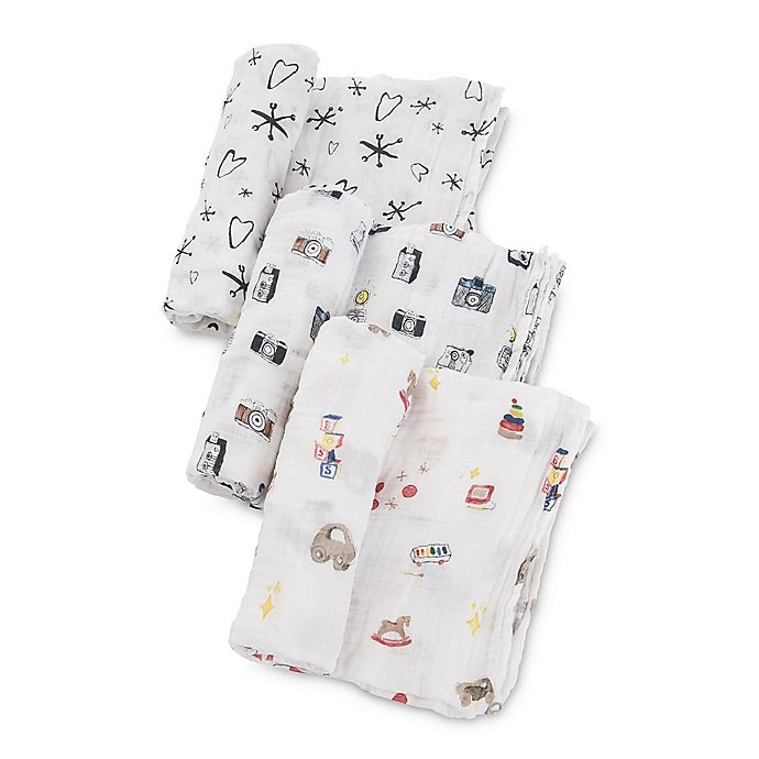 Alternate image 1 for Little Unicorn The Boss Baby Toy Box Muslin Swaddle Blankets (Set of 3)