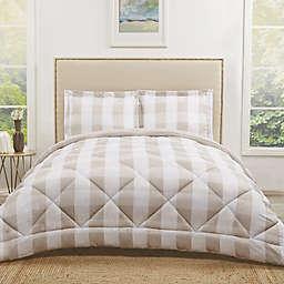 Truly Soft Buffalo Plaid 2-Piece Reversible Twin XL Comforter Set in Khaki