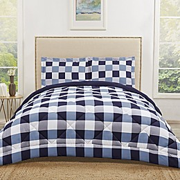 Truly Soft Buffalo Plaid Reversible Comforter Set