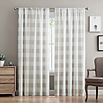 Truly Soft Buffalo Plaid 84-Inch Rod Pocket Window Curtain Panel Pair in Khaki
