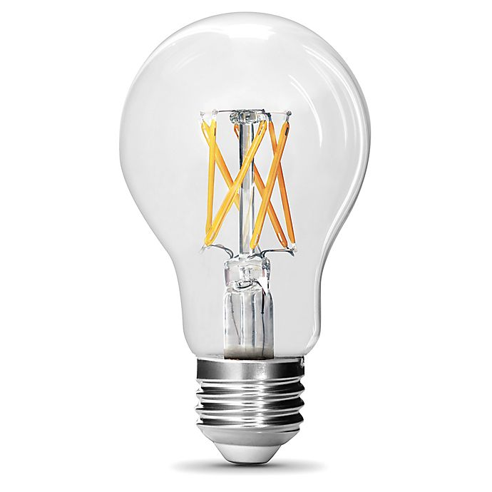 Alternate image 1 for Feit Electric 2-Pack Filament 60-Watt Equivalent A19 LED Daylight Light Bulbs