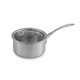 Calphalon® Tri-Ply Stainless Steel 2.5 qt. Saucepan with Lid