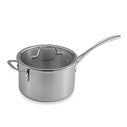 Calphalon® Tri-Ply Stainless Steel 4.5 qt. Saucepan with Lid