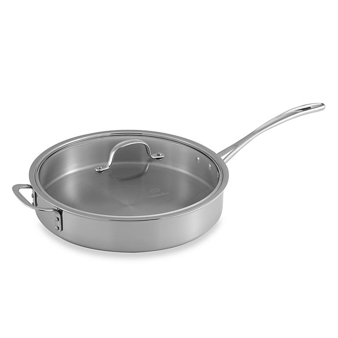 Alternate image 1 for Calphalon® Tri-Ply Stainless Steel 5 qt. Saute Pan with Lid