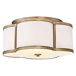 Filament Design 3-Light Semi-Flush Mount Light Fixture in Brass