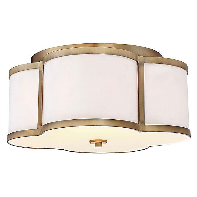 Alternate image 1 for Filament Design 3-Light Semi-Flush Mount Light Fixture in Brass