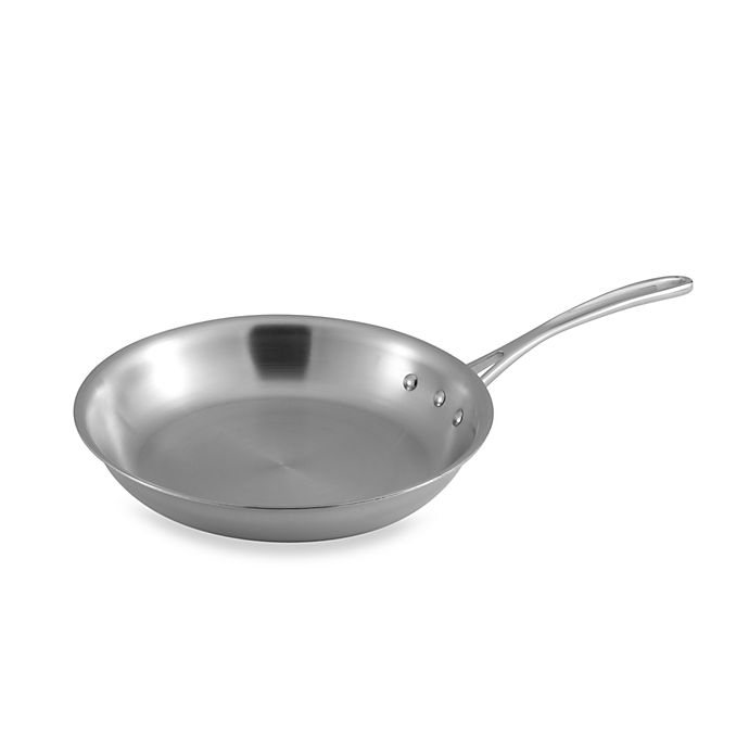 Alternate image 1 for Calphalon® Tri-Ply Stainless Steel 10-Inch Omelette Pan