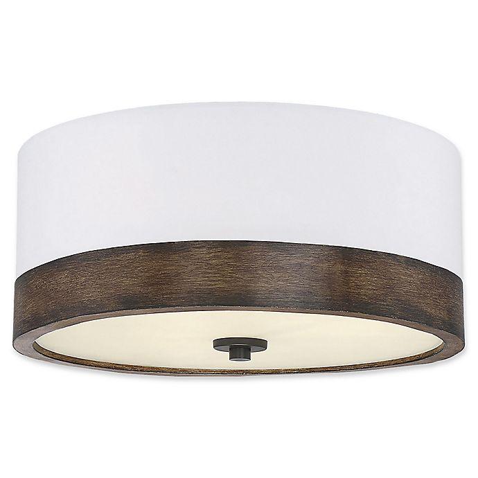 Alternate image 1 for Filament Design 3-Light Flush Mount Light Fixture in Wood/White