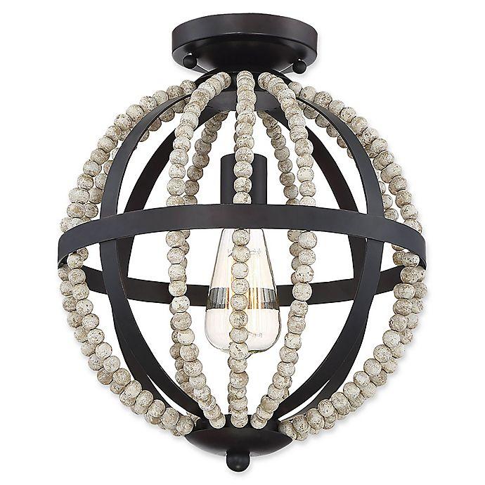 Alternate image 1 for Filament Design 1-Light Orb Flush-Mount Ceiling Fixture in Oil Rubbed Bronze