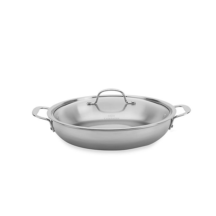 Alternate image 1 for Calphalon® Tri-Ply Stainless Steel 12-Inch Everyday Pan with Lid