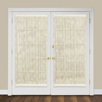 heritage lace pineapple rod pocket door panel bed bath beyond. Black Bedroom Furniture Sets. Home Design Ideas