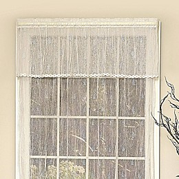 Heritage Lace® Pineapple Trimmed Window Valance in White