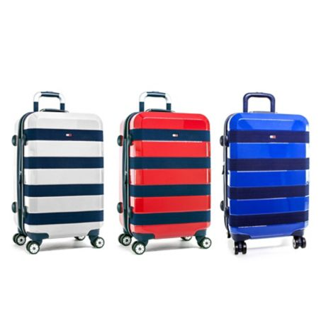 56c3d14cd1 Tommy Hilfiger Rugby Stripe 21-Inch Hardside Spinner Carry On Luggage   Bed  Bath & Beyond