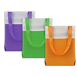 Neon Canvas Tote Bags (Set of 3)