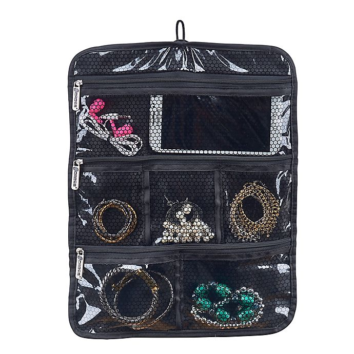 Alternate image 1 for Travel Jewelry and Accessory Roll in Black