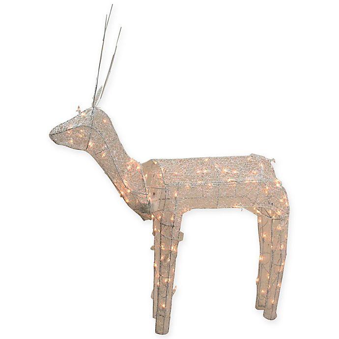 Alternate image 1 for Northlight 48-Inch 140-Light Glitter Reindeer Christmas Yard Art