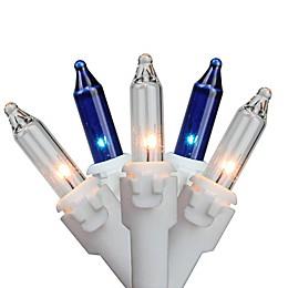 Northlight 11.25-Foot 50-Light Mini String Lights in Blue/Clear