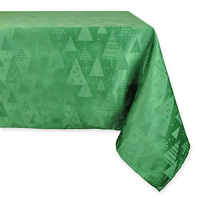 Design Imports Holiday Trees Tablecloth and Napkins