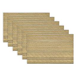 Metallic Basket Weave Placemats (Set of 6)