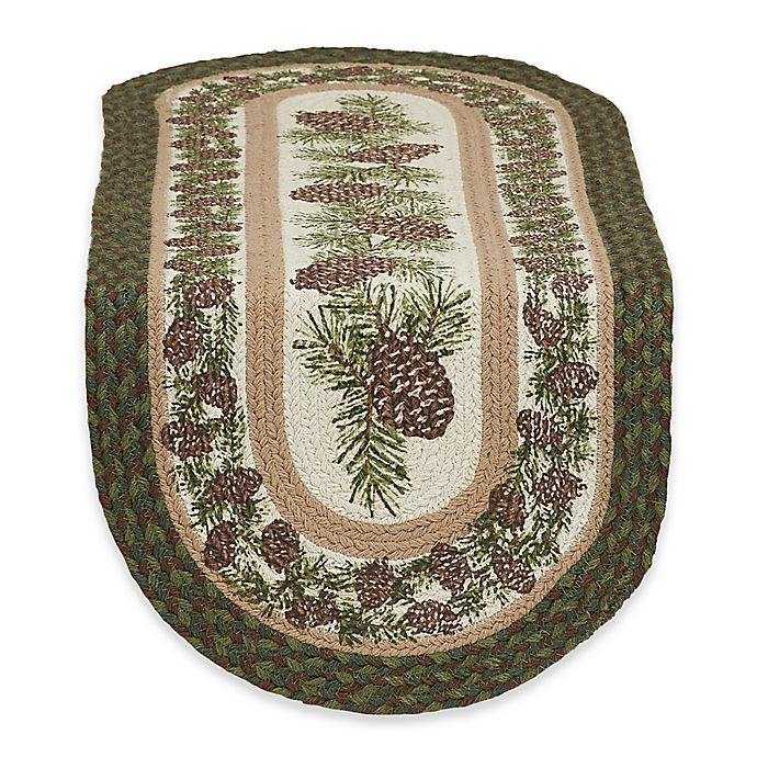 Design Imports Pinecone Braided 36 Inch Table Runner In