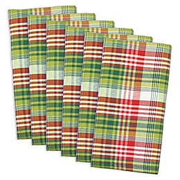 Design Imports Holly Jolly Plaid Napkins in Red/Green (Set of 6)