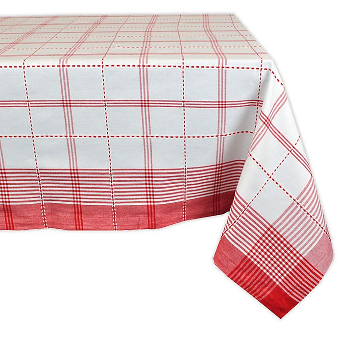 Alternate image 1 for Design Imports Country Plaid 60-Inch x 120-Inch Oblong Tablecloth