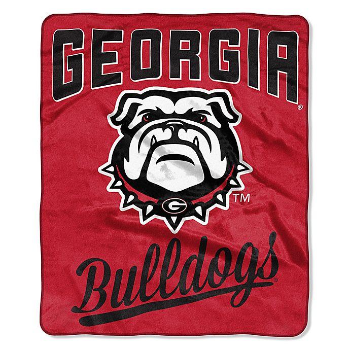 Alternate image 1 for University of Georgia Raschel Throw Blanket