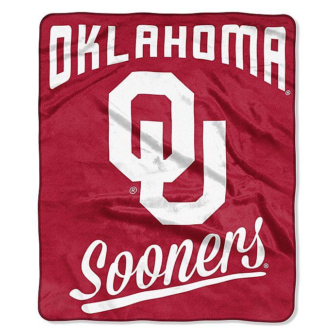 Alternate image 1 for University of Oklahoma Raschel Throw Blanket