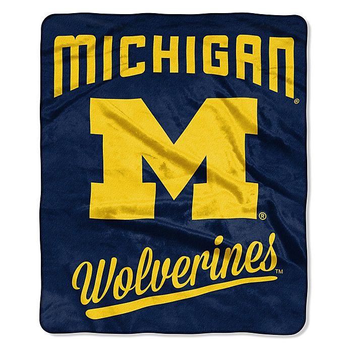 Alternate image 1 for University of Michigan Raschel Throw Blanket